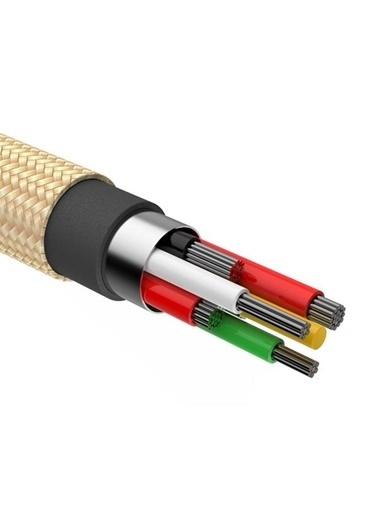Baseus Shining Jet Metal 11 Xs-Xr 5-6-7-8 Halat 1M 2.0A Usb Şarj Kablosu Gold Calsy-0V Renkli